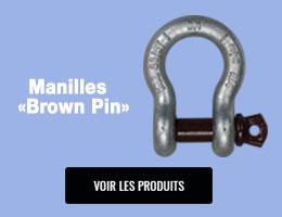 Manilles Brown Pin